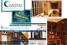 Coastal Custom Wine Cellars Builds Customs Wine Cellars New Jersey and New York / Climate controlled custom wine cellars are the ideal facility for wine storage and display.  Efficient custom wine cellars should be designed and constructed to promote proper wine aging and they must be equipped with several essential wine cellar design elements to be efficient.