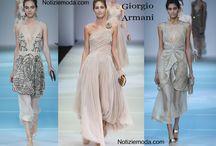 Giorgio Armani / Giorgio Armani collezione e catalogo primavera estate e autunno inverno abiti abbigliamento accessori scarpe borse sfilata donna.
