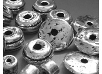 Versilberte Keramik Perlen