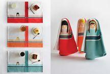 Melinaforkids / Melina è una tovaglietta per la prima colazione che opportunamente piegata diventa una bambolona.