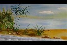 Pintura em tecido / sobre pintura em tecido, tela, madeira,etc.