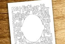 Father's Day Crafts, Coloring and Printables / A collection of Father's Day printables, Father's Day crafts, Father's Day coloring pages and other gift ideas for Dad that you can print or make yourself.