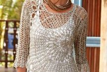 Pull  manches crochet