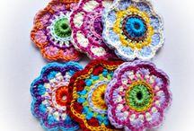 Разноцветье / мотивы вязание крючком