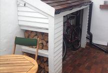 Outside Kitt's - Driveway/Storage/Garden Wall