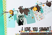 Fall and Halloween scrapbooking / All sort of beautiful fall and Halloween themed scrapbook pages and layouts.
