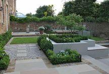 C & J Lennox / formal garden and main bedroom