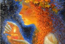 Девушки с рыжими волосами.