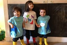 Bilingual Apparel for Children / Candid photos from budding linguists and kinderKALENDARS® fans wearing our signature bilingual graphic t-shirts #bilingual products #bilingual education #bilingual apparel #kinderKALENDARS #bilingual calendars #calendars for children