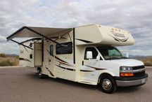 Large Class C Motorhome with Bunks / WOW! What a Cool RV There will be no worries where everyone will sleep when you rent this Large Class C with bunks. Feel the freedom to go anywhere, this unit is generator equipped and fully self contained. Entertainment? There are 5 TVs! Spend quality time outside under the 18′ electric shade awning utilizing the outdoor TV/Stereo. This unit lives BIG but is still nimble enough to navigate the city. These units are reserving fast, so book your trip today!
