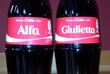 Alfa Romeo Share a Coke Bottles / Couldn't resist getting these share a Coke bottles with some Alfa names on.