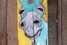 Wood art  Marie
