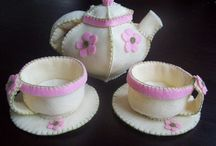 felt foods - tea set