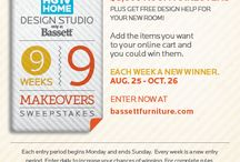 9 Weeks, 9 Makeovers Sweepstakes by Bassett Furniture / Enter for your chance to win 1 of 9 $5,000 room makeovers. Contest runs August 25th - October 26th 2014. Enter daily to increase your chances of winning! / by Bassett Furniture