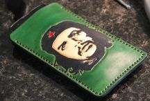 Che Guevara leather phone sleeve , handcrafted
