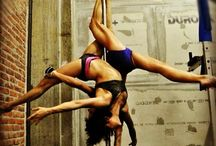 Pole fitness duo
