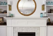 Fireplace bookcases