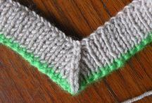 V neck knitting
