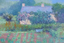 Landscape - Country Cottage Decor - Paintings / Original oil paintings of landscapes, country cottages, river and creek scenes.