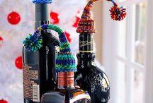 Strickmütze / Flasche