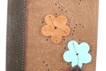 Leather Flower Journal with Raised Flowers