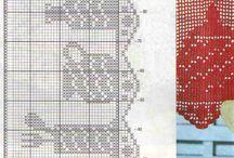 Филе / схемы и идеи филейного вязания