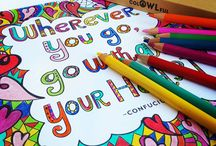 """Adult Coloring with Colowlful Pencils / Beautiful adult coloring pages used with Colowlful colored pencils. """"Owl you need is creativity"""""""
