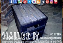 Custom Built Pallet Coffee & Side Tables / Custom built pallet wood furniture, Durban, Kwa-Zulu Natal. We will build your furniture and decor to your specifications and requirements. Indoor and outdoor. If it's made from wood, we'll build it. #palletfurnituredurban #palletfurnitureamanzimtoti #outdoorpalletfurniture #palletfurniturekzn #custompalletfurniture #palletwoodfurniture #custompalletfurnituredurban #custompalletwoodfurniture   #naileditpalletfurniture #naileditpalletfurniture #custompalletfurniture