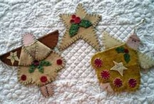 Angels / Inspiration for angels that could be made from Paper, Simply Pressed Clay, doilies, ribbon etc.