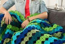 gehäkelte Decken