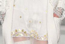 Blanco y oro moda