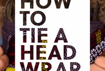 tying a head wrap