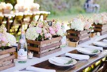 Dekoracja stołu sali kwiaty