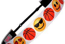 Emoji Smiley Face Headbands / Emoji Non Slip Adjustable Headbands.  In sports themes!!!  Get your Emoji On!!!