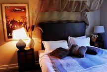 The African Suite / This king size bed and single bed suite offers family sized occupancy with exotic décor.