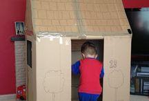 domek z kartonow