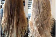 Langes stufiges Haar