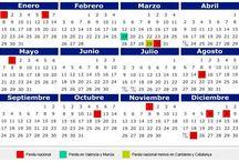 calendario 2018 en Colombia
