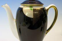 art deco tea pots