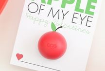 Apples for Valentine's Day / Fun ways to woo your Valentine with apples.