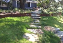 David Rolston Senior Design Associate Patrick Boyd - Ft Worth Project / A transformation of a front yard with a great deal of grade change by SDA Patrick Boyd, APLD