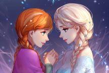 Elsa Frozen and Jelsa