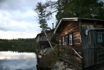 Cabin Envy / The love for the small, remote, wooden, stone, well designed tiny houses or cabins.