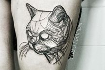 tattoos geometric animals cool style