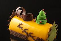 новогодние торты и пирожное