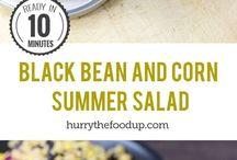 recipes: rice & salad