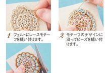 ビーズ刺繍  ブローチ