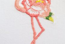 flamingo embroidery