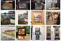 Plein air fest , door county 2014 / Photos of the plein air festival, art, outdoor, painting,