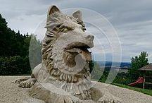 Stone statue - dog